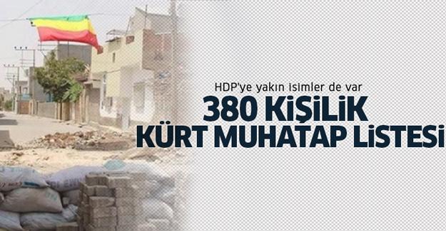 380 kişilik Kürt muhatap listesi