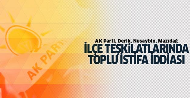AK Parti teşkilatlarında toplu istifa iddiası
