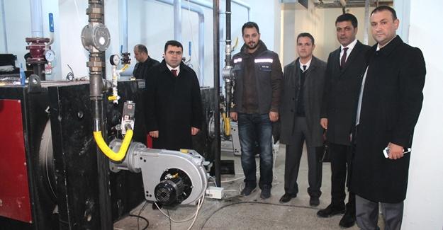 Atatürk Anadolu Lisesi doğalgaza kavuştu