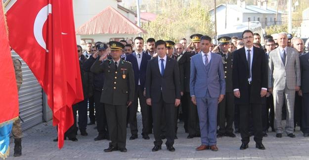 Başkale'de 10 Kasım Atatürk'ün vefatının 78. yıldönümü töreni