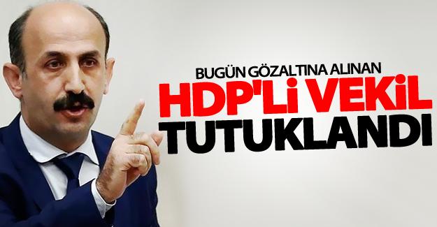Bugün gözaltına alınan HDP'li vekil tutuklandı