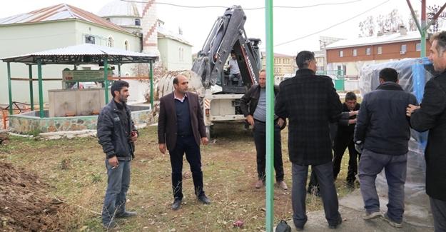 Çaldıran Belediyesi; Merkez Camisine ait ısıtma sorunu el attı