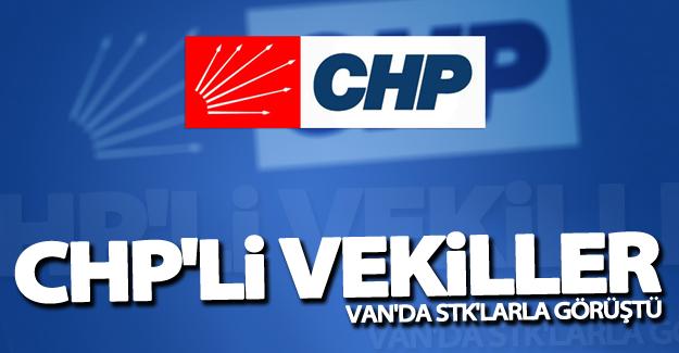 CHP'li vekiller Van'da STK'larla görüştü