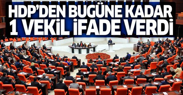 HDP'den bugüne kadar sadece bir kişi ifade verdi