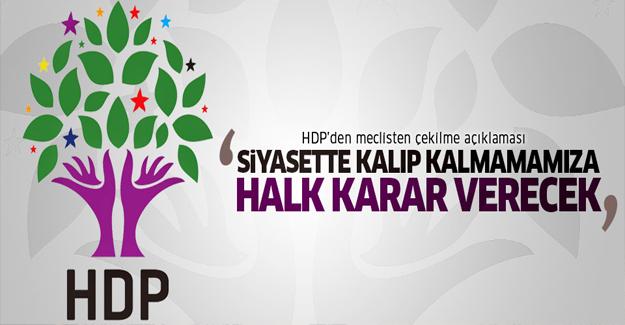 HDP: Siyaset yapıp, yapmamamıza halk karar verecek