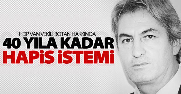 HDP Van milletvekili için 40 yıla kadar hapis istemi