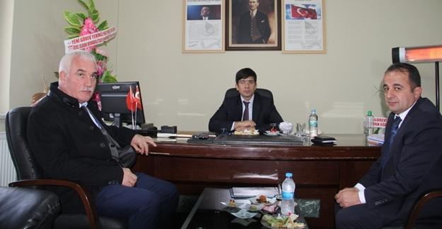 Kaymakam Öztürk'ten Müdür Samsa'ya ziyaret