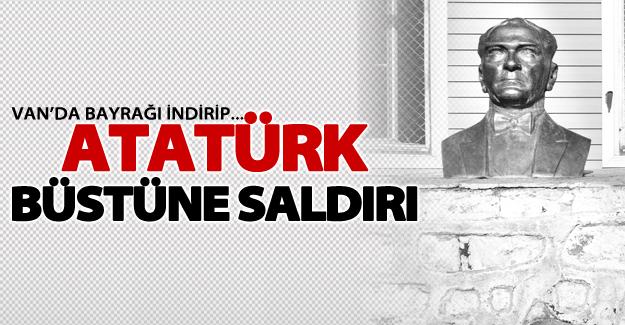 Özalp'ta Atatürk büstüne saldırı!