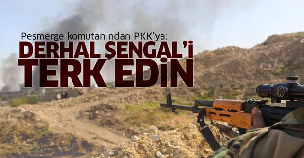 Peşmerge komutanı: PKK, derhal bölgeyi terk etmeli