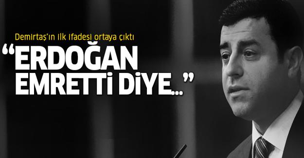Selahattin Demirtaş'ın ilk ifadesi