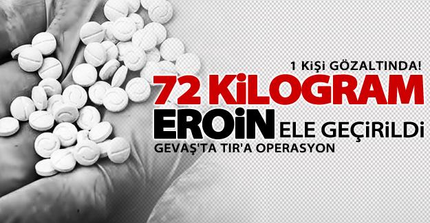 Van'da bir tırda 72 kilogram eroin ele geçirildi