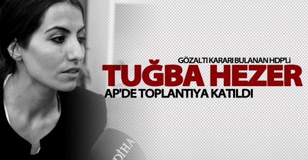 Van Milletvekili Tuğba Hezer Öztürk bir toplantıya katıldı