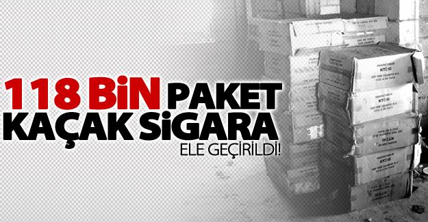 Van'da 118 bin paket kaçak sigara ele geçirildi