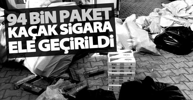 Van'da 94 bin paket kaçak sigara ele geçirildi