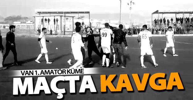 Van'da amatör maçta kavga