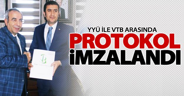 YYÜ ile VTB arasında protokol imzalandı