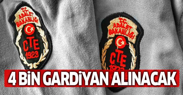 Adalet Bakanlığı'na 4 bin gardiyan alınacak