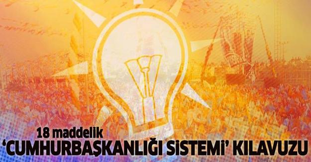 AK Parti'den 'Cumhurbaşkanlığı sistemi' kılavuzu