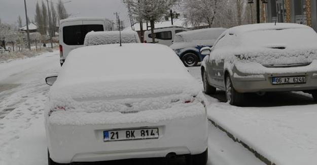 Başkale kar altında