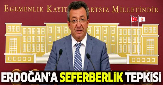 CHP'den Erdoğan'a 'seferberlik' tepkisi