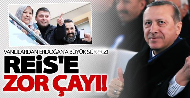 Cumhurbaşkanı Erdoğan'a Vanlılardan büyük sürpriz
