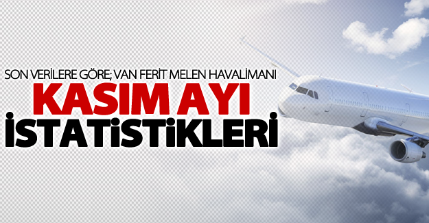 Ferit Melen Havalimanı kasım ayı istatistikleri