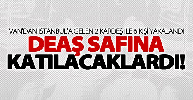 IŞİD'e katılmak için Van'dan İstanbul'a gelen 2 kardeş ile 6 kişi yakalandı