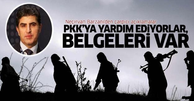 Neçirvan Barzani: PKK'ya yardım ediyorlar, belgeleri var