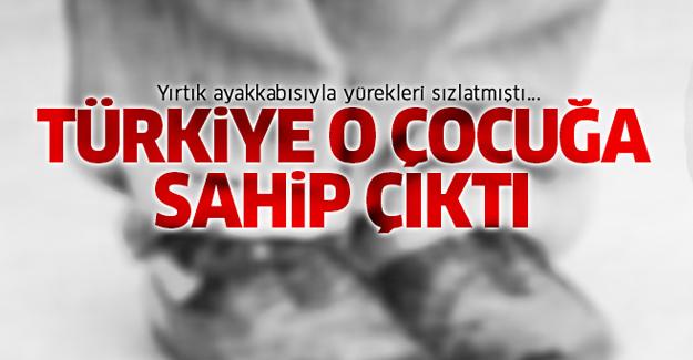 Türkiye o çocuğa sahip çıktı!