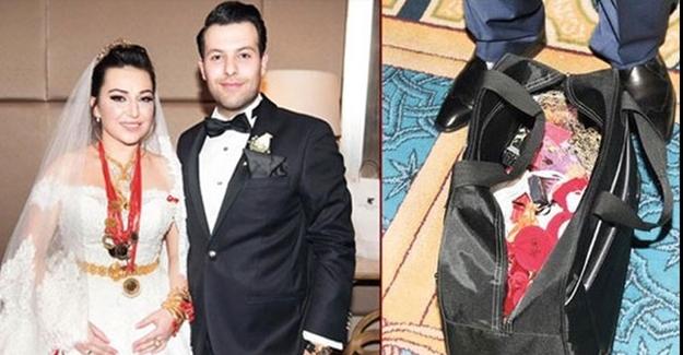 Eski vekilin oğlunun düğününde takılar valize zor sığdı