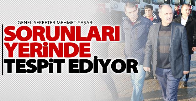 Genel Sekreter Yaşar'dan ilçe ziyaretleri devam ediyor