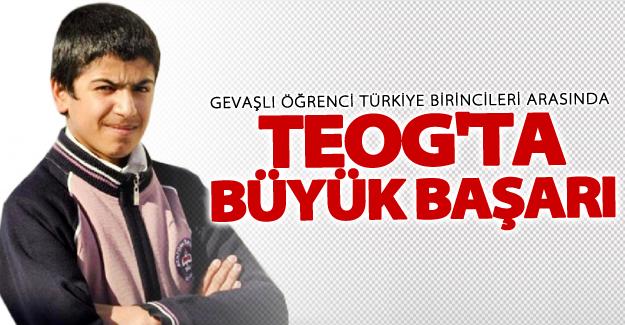 Gevaşlı öğrenci TEOG sınavında Türkiye birincileri arasına girdi