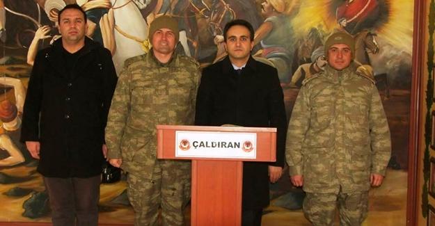 Kaymakam Dundar'dan 1. Hudut Tabur Komutanlığına ziyaret