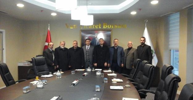 SP İl Başkanı Özay, VANTB'yi ziyaret etti