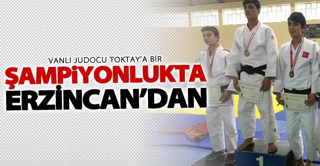 Vanlı Judocu Ejder Toktay'a bir şampiyonlukta Erzincan'dan