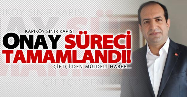 Bakan yardımcısı Çiftçi'den 'Kapıköy' açıklaması