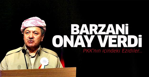 Barzani onay verdi! PKK'nın içindeki Ezidiler...
