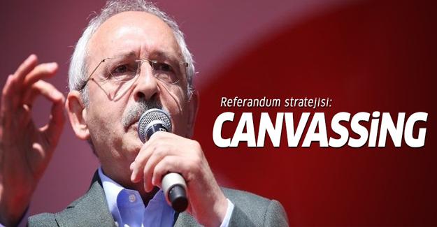 CHP'nin referandum stratejisi: Canvassing