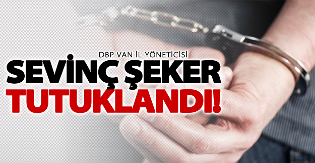 DBP Van il yöneticisi Sevinç Şeker tutuklandı