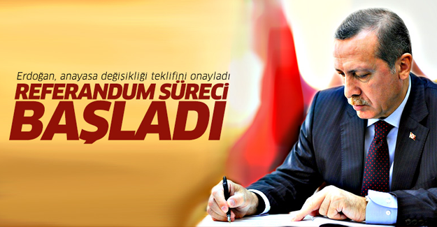 Erdoğan anayasa değişikliği teklifini onayladı