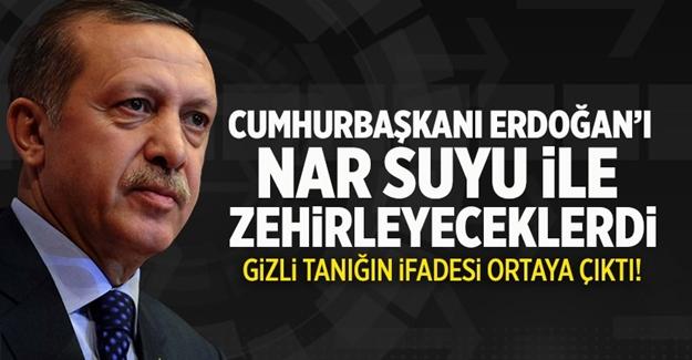 Erdoğan'ı nar suyu ile zehirleyeceklerdi