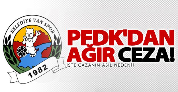 PFDK'dan Vanspor'a ağır ceza!