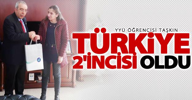 YYÜ öğrencisi Taşkın Türkiye 2'incisi oldu