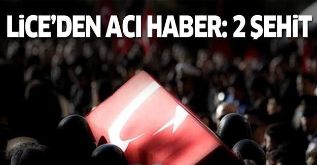 Diyarbakır Lice'de 2 asker şehit oldu
