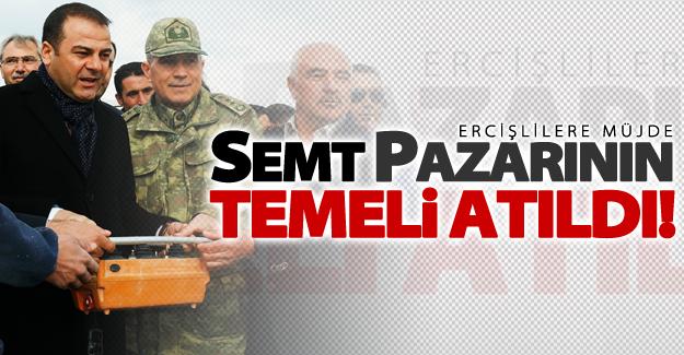 Erciş'te semt pazarının temeli atıldı