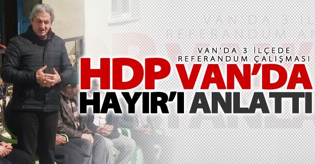 HDP'nin Van'da 'Referandum' çalışmaları devam ediyor