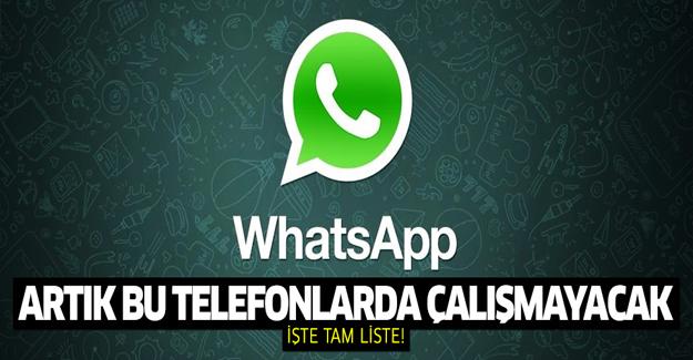 Kötü haber! WhatsApp artık bu telefonlarda çalışmayacak