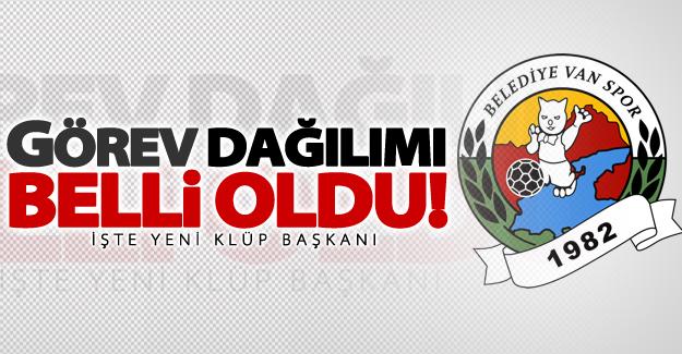 Van Büyükşehir Belediyespor'da görev dağılımı belli oldu