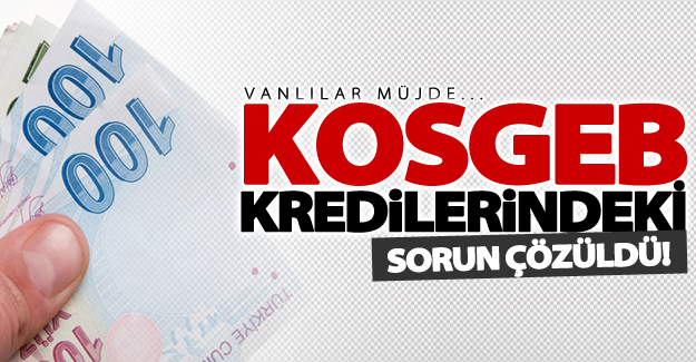 Vanlılara müjde! KOSGEB kredilerindeki sorun çözüldü