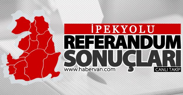 16 Nisan 2017 İpekyolu referandum sonuçları: Evet ve Hayır oy oranları